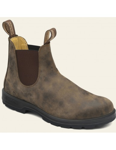 ELASTIC SIDED BOOT LINED RUSTIC BROWN T-41