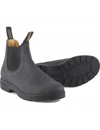 ELASTIC SIDED BOOT LINED RUSTIC BLACK T-42